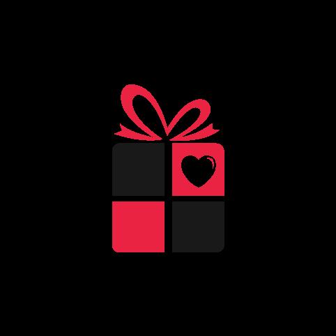 Monogram Heart Black Personalised Compendium