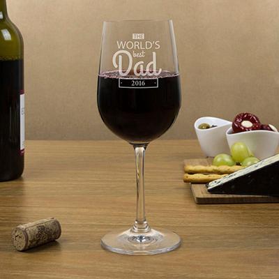 NO.1 Dad wine glass