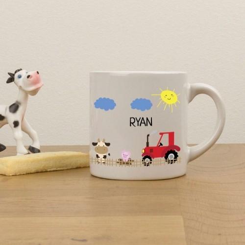 christmas gifts - farmyard childrens mug