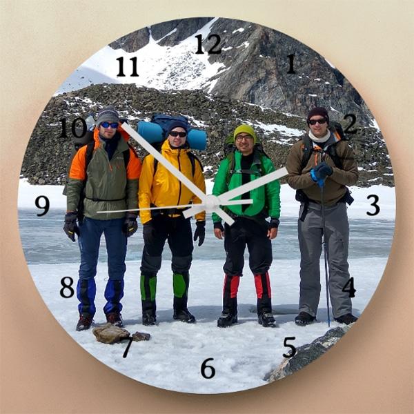 personalised photo wall clock